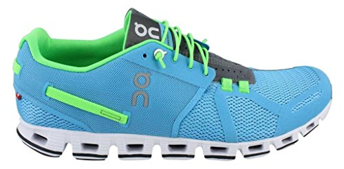 Blue Flame Synthetic Blend (On Running Mens Cloudflyer Running Shoe Water/Flame Size)
