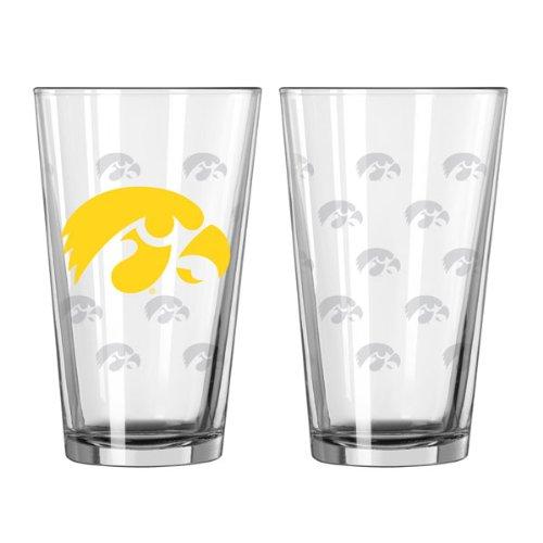 Iowa Hawkeyes 16 oz. Satin Etch Pint Glass