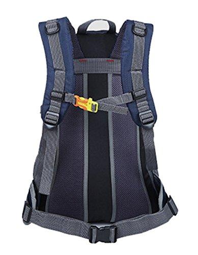 35L Große Kapazität Doppel Schulter Rucksack Outdoor-Reisen Rucksack Bergsteigen Tasche Reiten Rucksack Sporttasche,Red DarkBlue