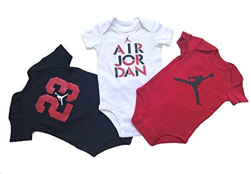Nike Jordan Infant New Born Baby Bodysuit 3 Pcs Layette Set (6/9 M