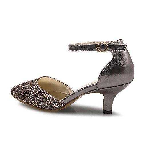 1TO9 Sandales Inconnu Gris Compensées Femme w07dd6qxg