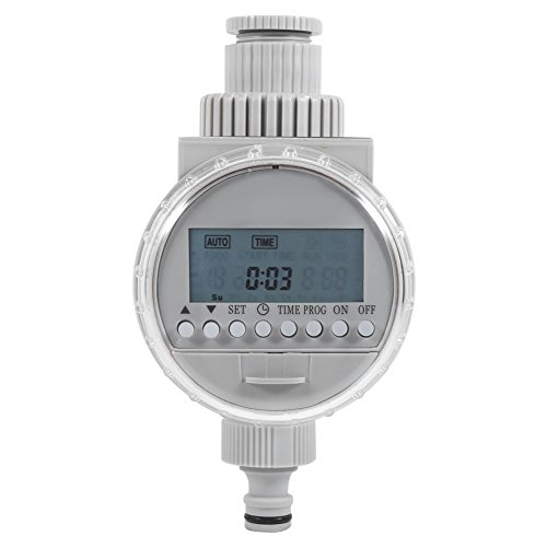 AYNEFY Garden Water Timer, 1Pc Solar Power Watering Timer Automatic Intelligent Home Garden Auto Water Saving Irrigation Controller LCD Digital Watering Timer Set Equipment Hose Timers System