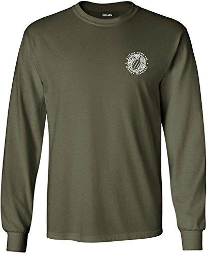 Joe's USA Koloa Surf(tm) Hawaiian Turtle Logo Long Sleeve (Joe Army T-shirt)