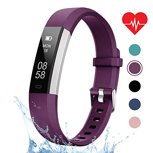 LETSCOM Fitness Tracker, Heart Rate Monitor, Pedometer Workout Tracker Smart Watch, Sleep Monitor, Step Counter, Calorie Counter, Distance Counter, IP67 Waterproof, Fitness Tracker for Kids Women Men (Best Fitness Tracker For Sleep Tracking)