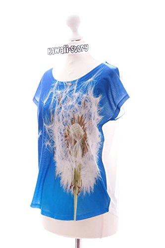 TP-30 Pusteblume Blauer Himmel Dandelion kurzarm T-Shirt Lolita Harajuku Japan