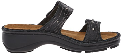 Naot Women's Lavender Wedge Sandal Black Matte Leather kjUpMN