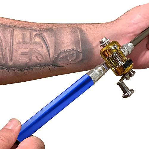 ONE250 Mini Portable Pocket Pen Fishing Aluminum Alloy Rod and Reel (Blue) (Pole Fishing Reel Rod Pen)