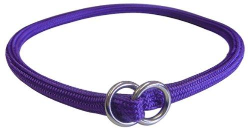 Hamilton 828 PU 5/16-Inch by 18-Inch Round Braided Choke Nylon Dog Collar, Purple
