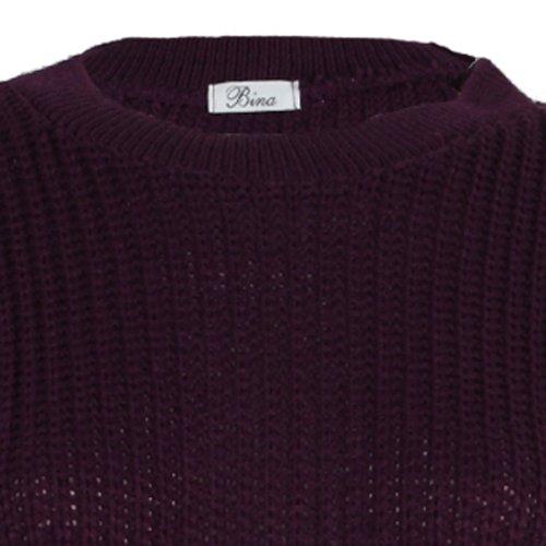 Jersey grueso para mujer (9L) morado