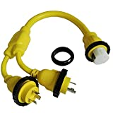 Parkworld 692033 Marine Shore Power Y Adatper 30A L5-30P 2EA Male Plug to 50A SS2-50R Female connector
