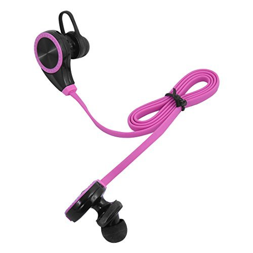 Amazon.com: eDealMax Deporte sudor Prueba de reducción de ruido auriculares estéreo inalámbrico Bluetooth Auricular Fucsia: Electronics