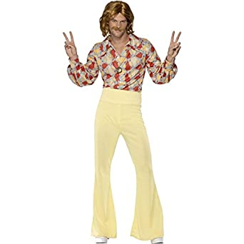 70s Costumes: Disco Costumes, Hippie Outfits Smiffys Mens 1960s Shirt And Trousers $58.09 AT vintagedancer.com