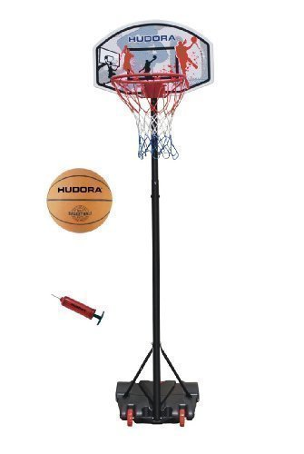 Hudora Basketballständer All Stars + Ball und Pumpe 71665