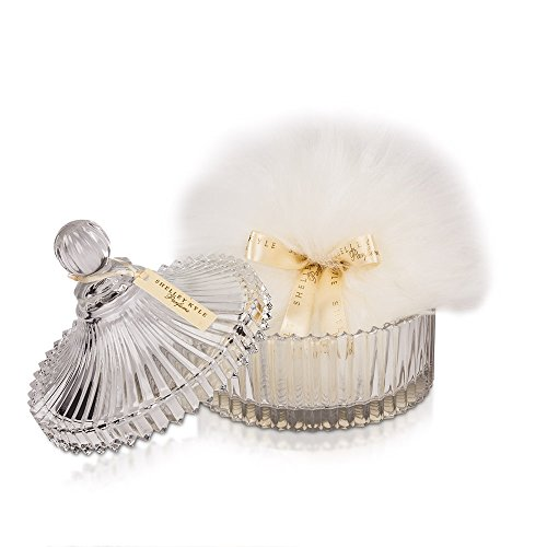 - Shelley Kyle Large Powder Puff with Crystal Dish
