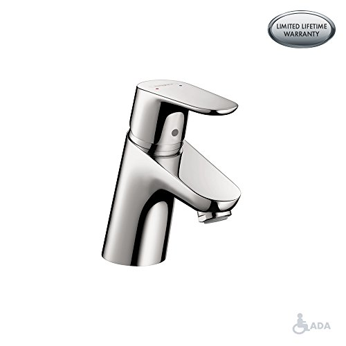 (hansgrohe Focus  Modern 1-Handle  5-inch Tall Bathroom Sink Faucet in Chrome, 04370000)