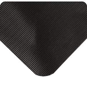 (Wearwell 431, Corrugated SpongeCote Anti-Fatigue Mat, 1/2 Inch x 2' x 3', Black)
