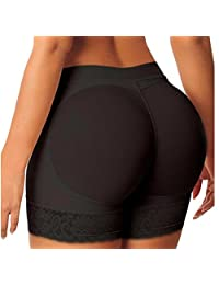 Fayesmiling Womens's Padded Butt Lifter Hip Enhancer Shaper Lace Panties Underwear