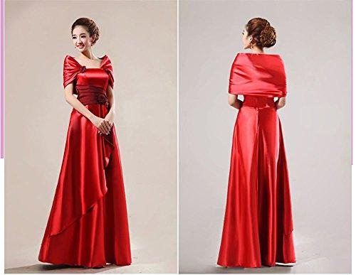 Comvison Élégantes Robes De Bal De Demoiselle D'honneur Maxi Royale Longues Robes De Soirée Rouge Robe De Célébrité
