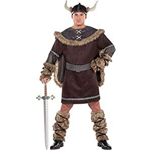 AMSCAN Viking Warrior Halloween Costume for Men, Plus Size, with Included Accessories