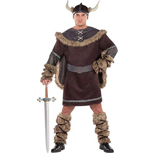 AMSCAN Viking Warrior Halloween Costume for Men, Plus Size, with Included -
