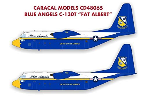 Caracal Models 1/48 Scale Decal Blue Angels C-130T Fat Albert - Italeri - CD48065