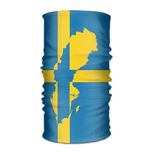 Sweden Swedish Flag Map Headwear Bandanas Headscarf Helmet Liner Head Wrap Scarf by WOOD-RAIN