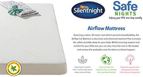 Silentnight Safe Night Foam Free Cot Mattress Hypoallergenic 3D Mesh Breathable