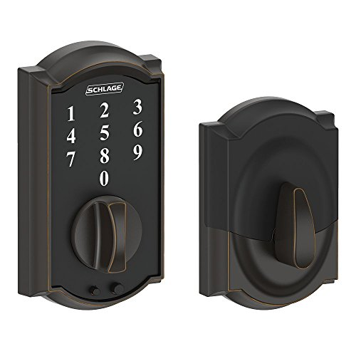 Schlage Touch Camelot Deadbolt (Aged Bronze) BE375 CAM 716