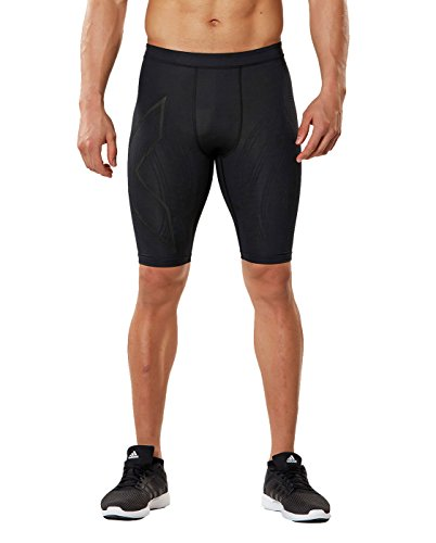 2XU Men's MCS Run Compression Shorts (Black/Nero, XX Large) by 2XU (Image #1)
