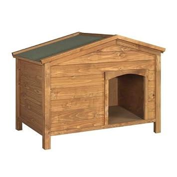 Tradicional Madera Caseta de perro con tejado - machihembrados y revestimiento - proporciona fiable Refugio del sol y la lluvia: Amazon.es: Productos para ...