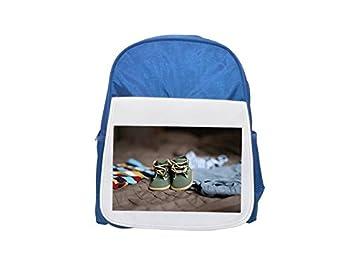 Mochila para niños con estampado de zapatos, embarazo, niño, ropa de color azul, mochilas lindas, mochilas pequeñas bonitas, mochila negra ...
