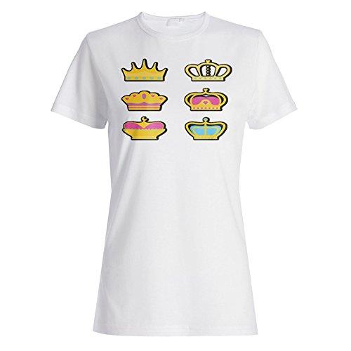 Neue Set Krone Mit Flachem Design Damen T-shirt l590f