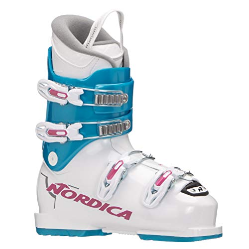 Nordica Dobermann GPTJ Ski Boot - Kids' White/Light Blue, 21.5 (Best Ski Boots For Kids)