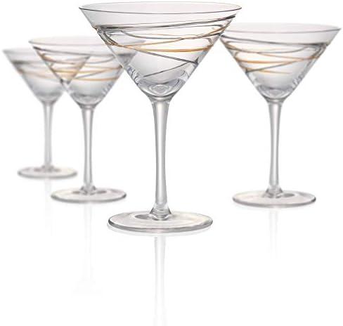Artland Reflections 8 Ounce Martini Glass, Set of 4