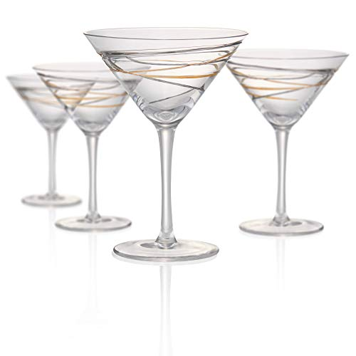 Artland Reflections 8 Ounce Martini Glass, Set of 4 -