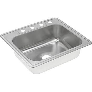 Kitchen Sink 25 X 22 Elkay dxr25224 18 gauge stainless steel single bowl top mount elkay dxr25221 18 gauge stainless steel single bowl top mount kitchen sink 25 x 22 workwithnaturefo