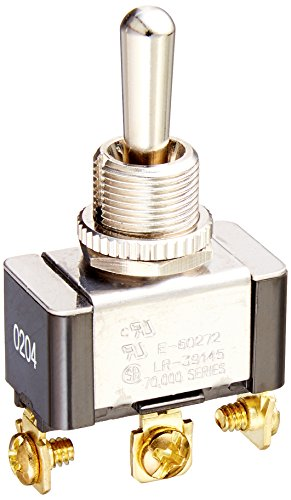 (Morris Products Momentary Contact Toggle Switch - Heavy Duty, SPDT 3 Screw Terminals - On-Off-(On) - 1500V Dielectric Strength, 100,000 Mechanical Life Cycles - CURus Listed - 1.13