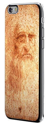 Luxendary Leonardo Da Vinci Portrait Design Chrome Series Case for iPhone 6/6S Plus - Titanium Black