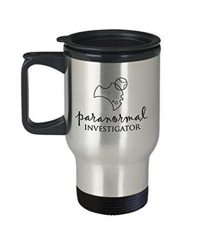 Best Travel Coffee Mug Tumbler- Investigator Gifts Ideas for Men and Women. Paranormal investigator. by Mugart