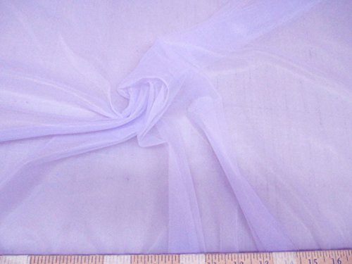 Fabric Nylon Colour - Discount Fabric Choose Your Color nylon Tricot 15 denier Lustre Sheer (Yard, Lavender)