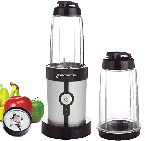 GForce GF-P1546-1229 On the Go Stainless Steel Mini Blender With Two Traveling 0.6L Cups