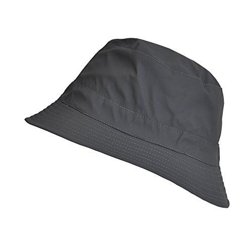 Rain Hat Reversible (TOUTACOO Reversible Waterproof Bucket Rain Hat, in Weaved Cotton Grey)
