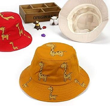 Gelb PRETYZOOM Kinder Fischer M/ütze Kinder Sonnenschutz M/ütze Sommer Eimer Hut mit Krempe