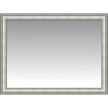 Silver Slope Front Wall Mirror, Size 44.5 X 34.5