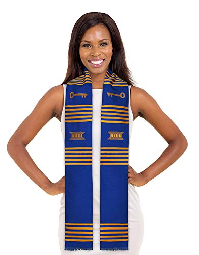 Make Your Own Custom DIY Kente Stole (Key Royal Blue and Gold)