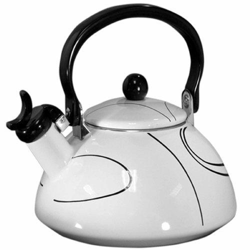 Tea Line (Corelle Coordinates by Reston Lloyd Harmonic Hum Whistling Teakettle, 2.2 Quart, Simple Lines)