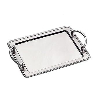 Amazon.com: Elegance Silver 73029Bandeja rectangular ...