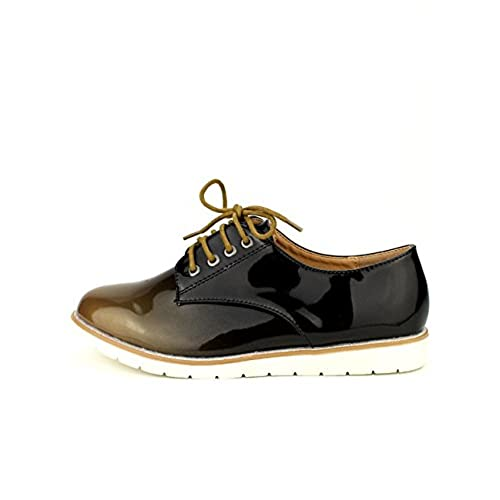 Cendriyon Derbies Vernies BI Color WEIDES Moutarde Chaussures Femme