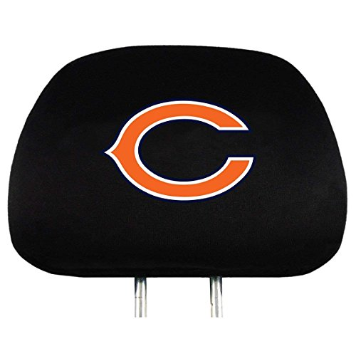 Infinity Stock NFL Embroidered Logo Head Rest Cover Universal Fit - Car Truck SUV & Van, Set Of 2, Auto Interior Accessories (Chicago Bears)
