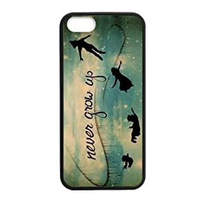 Custom Unique Design Never Grow Up Iphone 5 5S Silicone Case